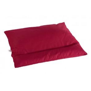 Grikių lukštų pagalvė - Didelė 60x50 cm.-Bordeaux