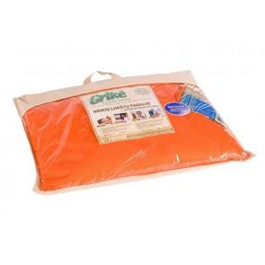 Grikių lukštų pagalvė - Didelė 60x50 cm.-Orange