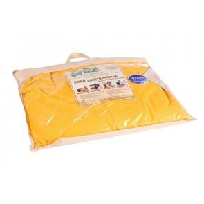 Grikių lukštų pagalvė - Didelė 60x50 cm.-Geltona
