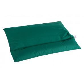 Grikių lukštų pagalvė - Didelė 60x50 cm.-Green