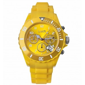 """Universalus laikrodis iš hipoalerginio plastiko su data ir chronografu. """"Luch""""."""